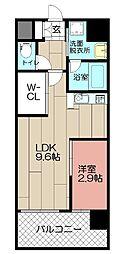DSタワー平尾駅前レジデンス[402号室]の間取り