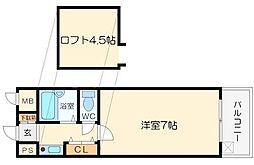 ロイヤルハイツ西淡路Part2[8階]の間取り