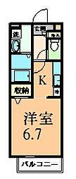 パンシオン・ガゾン[1階]の間取り