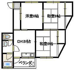小林マンション[1-西号室]の間取り