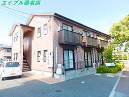 三重県桑名市大字江場の賃貸アパートの外観