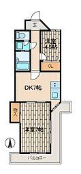 メゾンデアフリ[4階]の間取り