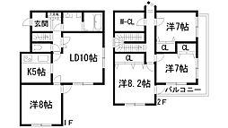 [テラスハウス] 兵庫県宝塚市仁川月見ガ丘 の賃貸【/】の間取り