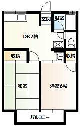 シティハイムアケボノA[2階]の間取り