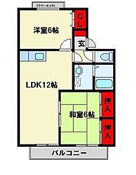 セラビブリアント[2階]の間取り