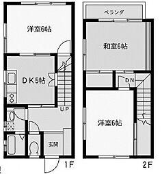 [テラスハウス] 神奈川県座間市広野台1丁目 の賃貸【/】の間取り