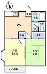 ファミーユ江原台[2階]の間取り