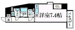 阪急神戸本線 王子公園駅 徒歩8分の賃貸マンション 9階ワンルームの間取り
