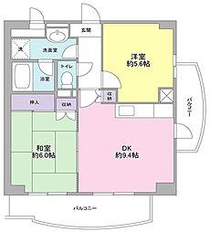 神奈川県川崎市中原区木月祗園町の賃貸マンションの間取り