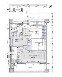 クリオ川崎駅前本町(駅近・最上階)[14階]の間取り