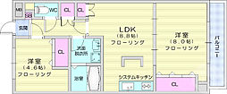 エクセレント岩沼 4階2LDKの間取り