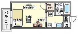 家具・家電付きマルシンビル C[6階]の間取り