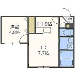 コンフォート栄通[2階]の間取り