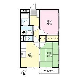 リリーズマンション[301号室]の間取り