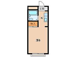 孝子ハイツ[2階]の間取り
