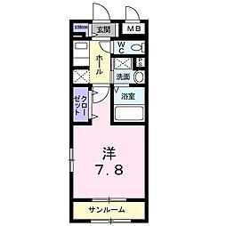 サニ−レジデンス[1階]の間取り
