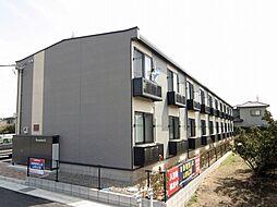 千葉県東金市家徳の賃貸アパートの外観