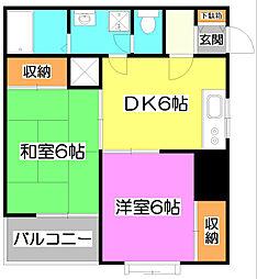 マイシティビルディング[4階]の間取り