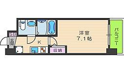 セレニテ福島カルム 5階1Kの間取り