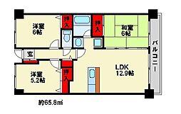 第2世利ビル[4階]の間取り