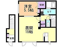 Sekisui Heim−I 2階1LDKの間取り