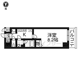 アスヴェル京都二条駅前II605[6階]の間取り