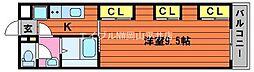 JR山陽本線 西川原駅 徒歩6分の賃貸アパート 1階1Kの間取り