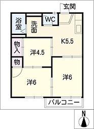 ファミール松本[1階]の間取り