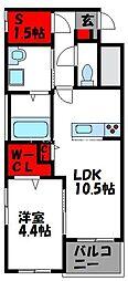 JR香椎線 酒殿駅 徒歩36分の賃貸マンション 4階1SLDKの間取り