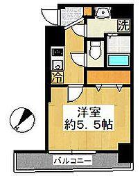 グリフィン横浜・ルミエール[605号室]の間取り