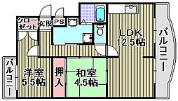 ベイリーフマンション[103号室]の間取り