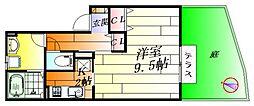 大阪府摂津市千里丘2丁目の賃貸アパートの間取り