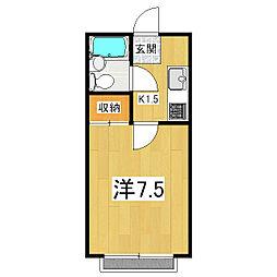 吉田ハウス[202号室]の間取り