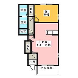 コンカドール[1階]の間取り