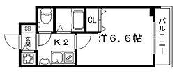 京都府京都市下京区七条御所ノ内本町の賃貸マンションの間取り
