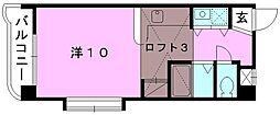 メゾンドール室町[401 号室号室]の間取り
