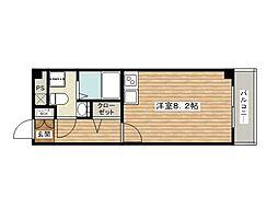 プラスコート西豊川[2階]の間取り