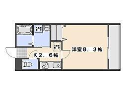 広島県広島市佐伯区屋代3丁目の賃貸アパートの間取り