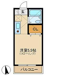 コンフォート中田[2階]の間取り