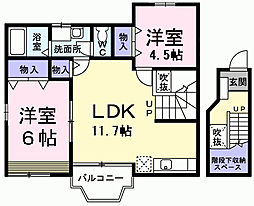 東京都青梅市東青梅4丁目の賃貸アパートの間取り