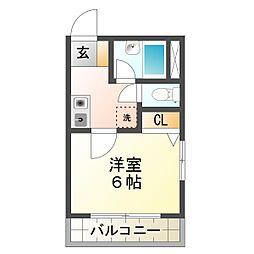 兵庫県神戸市垂水区城が山3丁目の賃貸マンションの間取り