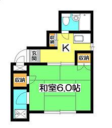 新所沢フラワーマンション[2階]の間取り
