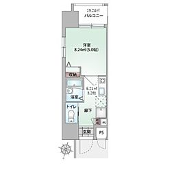 沖縄都市モノレール 牧志駅 徒歩3分の賃貸マンション 9階1Kの間取り