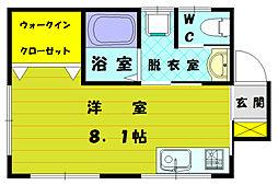 高松アパート[2階]の間取り