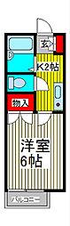 コーポカキザキ[1階]の間取り