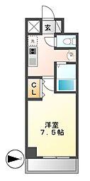 ニーズメゾン新栄[8階]の間取り