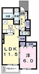 Elcasa A[1階]の間取り