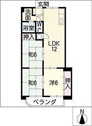 コンフォート・フカヤ[7階]の間取り