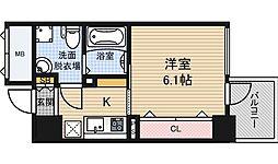 アドバンス西梅田4エール[6階]の間取り