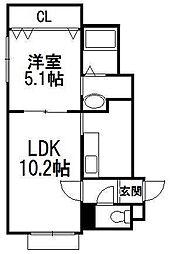 ルミエールブリジビッグホンゴウ[2階]の間取り